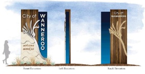 Seven signs, costing $350,000, will be built.