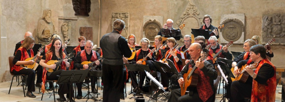 The West Australian Mandolin Orchestra performing at Mulhouse, France, in 2010.