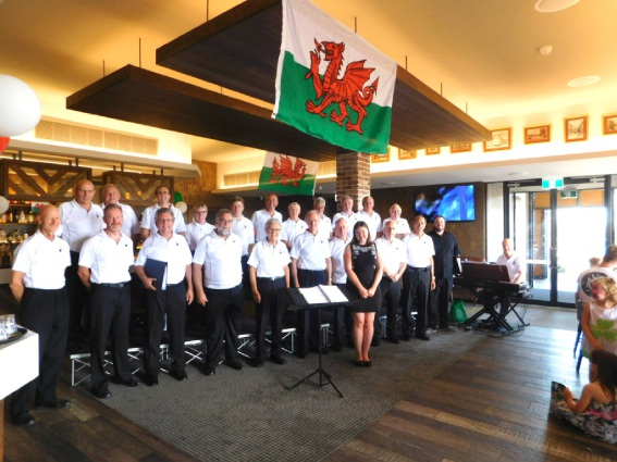 The Perth Male Voice Choir at the St David's Day event.