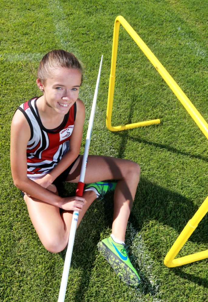 Chloe Wright is enjoying success in track and field events.  Picture: David Baylis www.communitypix.com.au   d450019