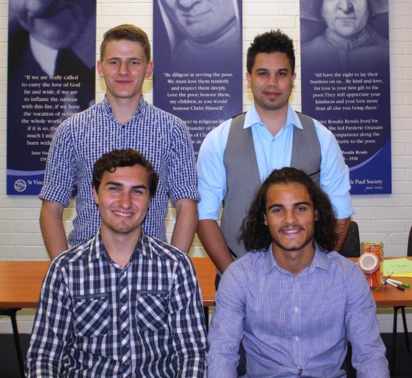 Liam Staltari and Keenan Klassen (back) with Patrick Wallis and Rowan Pearce.