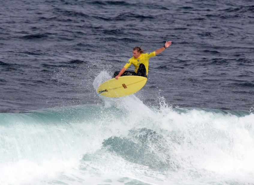 Harry McPherson during one of his rides.         Picture: Surfing WA/Majeks