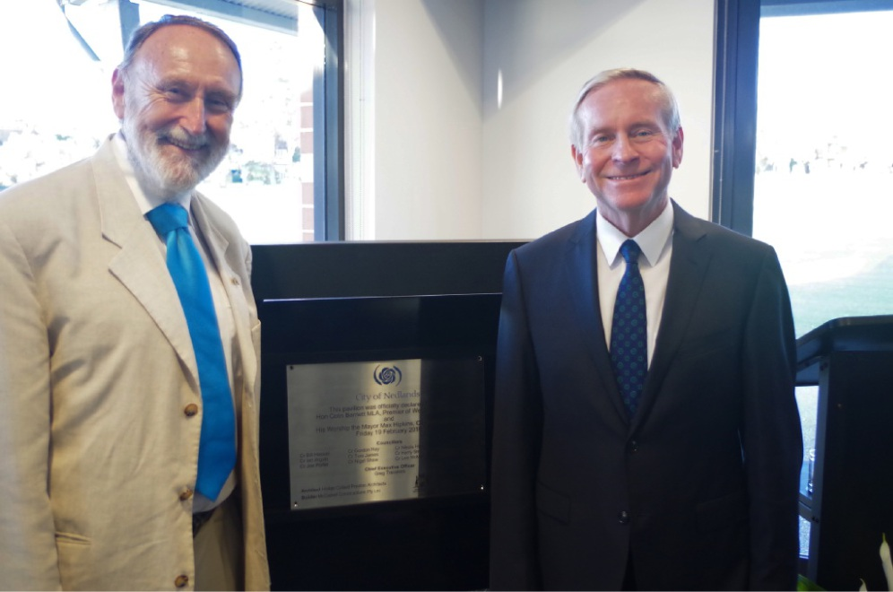 Nedlands Mayor Max Hipkins and Premier Colin Barnett at the opening.