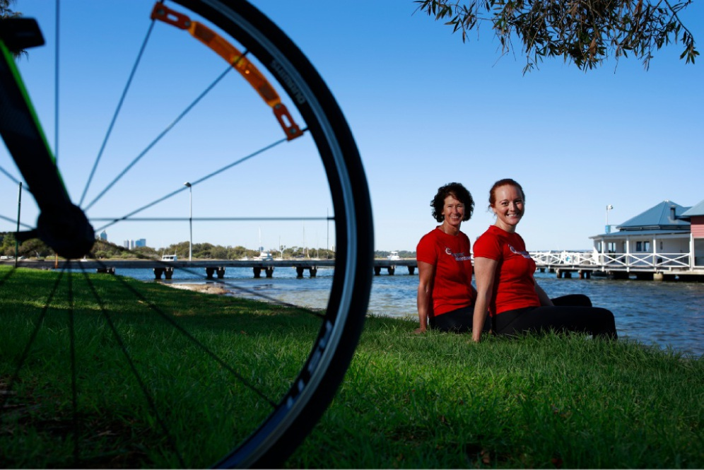Wendy Wisniewski and Jessica Stokes will join 18 other women for the UN Women Ride for Rights Vietnam and Cambodia Challenge. Picture: Andrew Ritchie www.communitypix.com.au   d450411