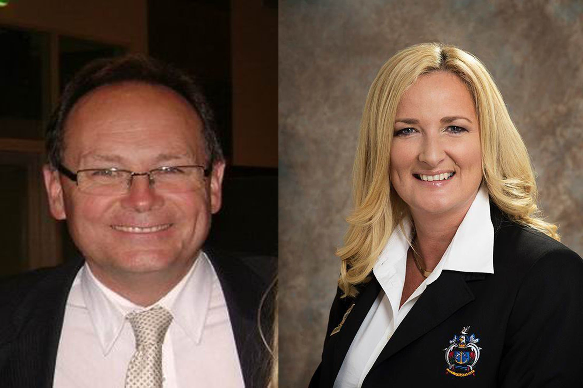 In agreement: Mandurah MLA David Templeman and Mayor Marina Vergone agree there is a strong need for a revised policing model in Mandurah.