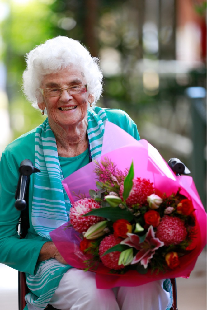 Margaret Lay has been a comfort to many grieving families. Picture: Andrew Ritchie d450373