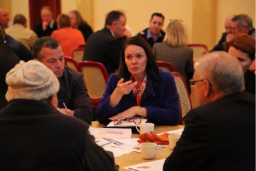 Road Safety Minister Liza Harvey at the community road safety forum in Merredin last year.