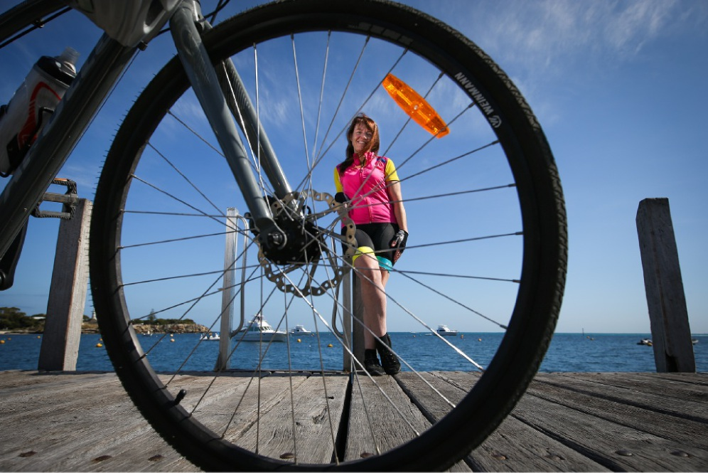 Tracey Hornsey, who works on Rotto, cycles as much as she can.  Picture: Andrew Ritchie  d447708.