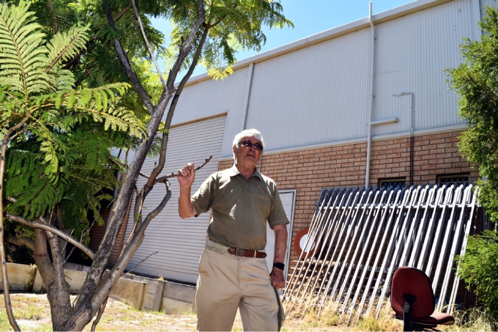 Bayswater Community Men's Shed vice-president Tony Green at the site of the new shed in Bayswater. Picture: Toyah Shakespeare