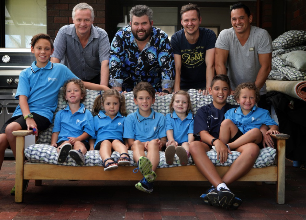 Joondalup councillor John Logan, Courtney Murphy and Ceri Price with Daylan, Zai and Broke Naetford, Carys Price, Tane Naetford, Sophie Murphy and Taj and Aden Naetford.  Picture: Martin Kennealey d449518