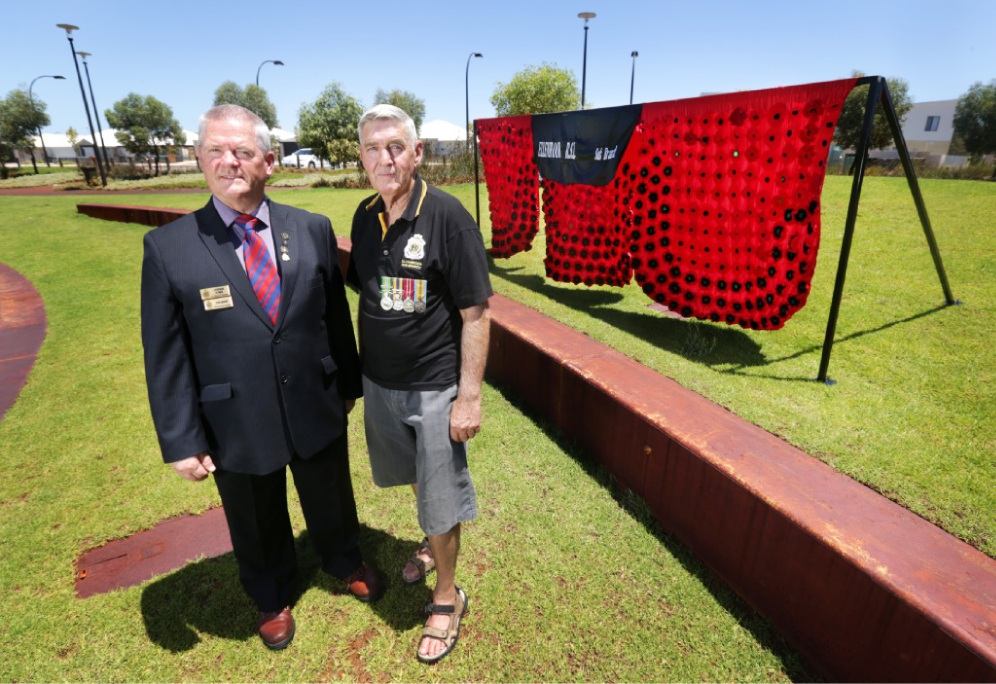 Ellenbrook RSL Sub-Branch's Stephen O'Neil and Darby Munro.  Picture: David Baylis  d449575
