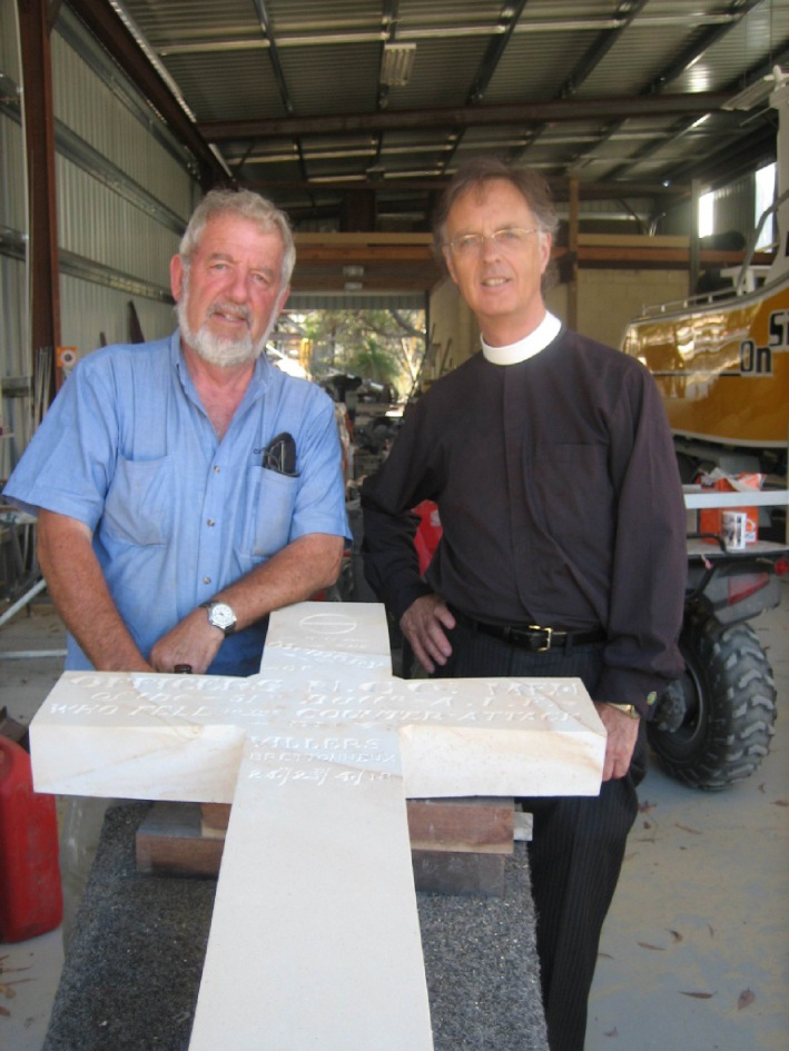 Martin Colgan with St George's Cathedral former Dean |the Reverend John Shepherd.