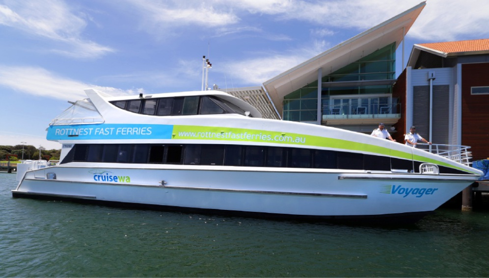 Voyager, which can seat almost 180, is Hillarys' newest ride to Rottnest Island.  Picture: Martin Kennealey www.communitypix.com.au   d450167