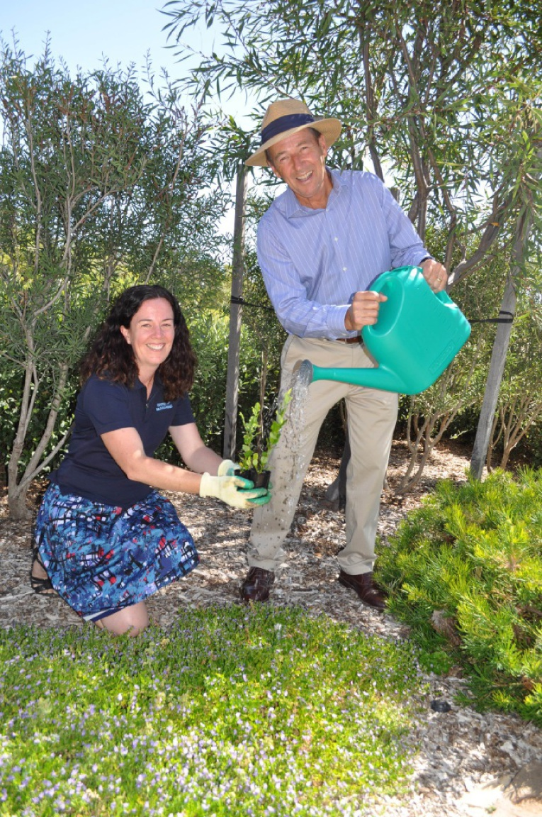 Tree Canopy and Understorey Program co-ordinator Jolene Wallington and Shire President David Lavell.