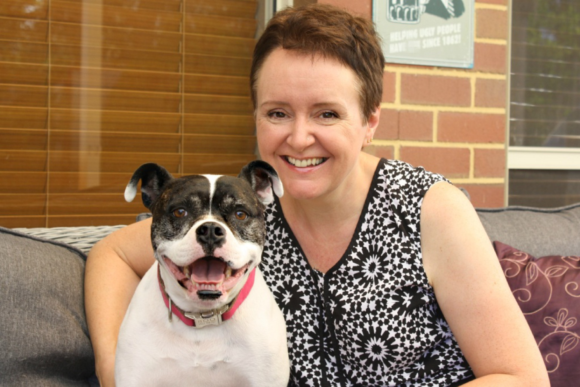 Michelle Gaynor with her much-loved rescue dog Boo.