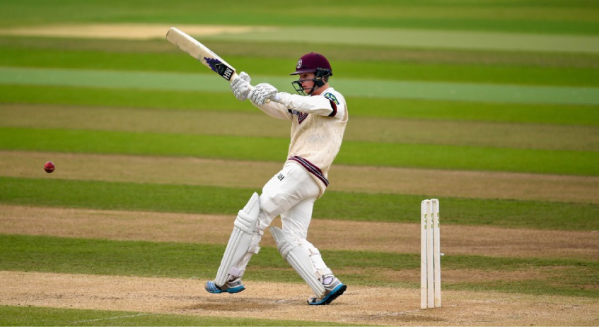 English import Tom Abell playing for Somerset in the English County Championship. Picture: Stu Forster