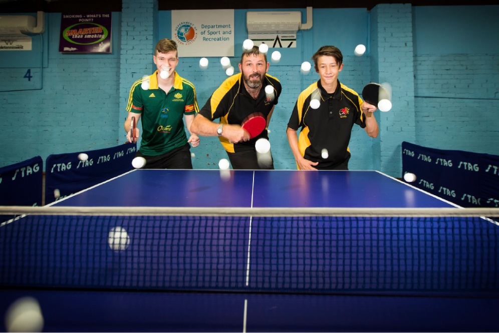 Connor Johnstone, Garth McNeil and Lenny Properjohn. Picture: Will Russell www.communitypix.com.au   d449311