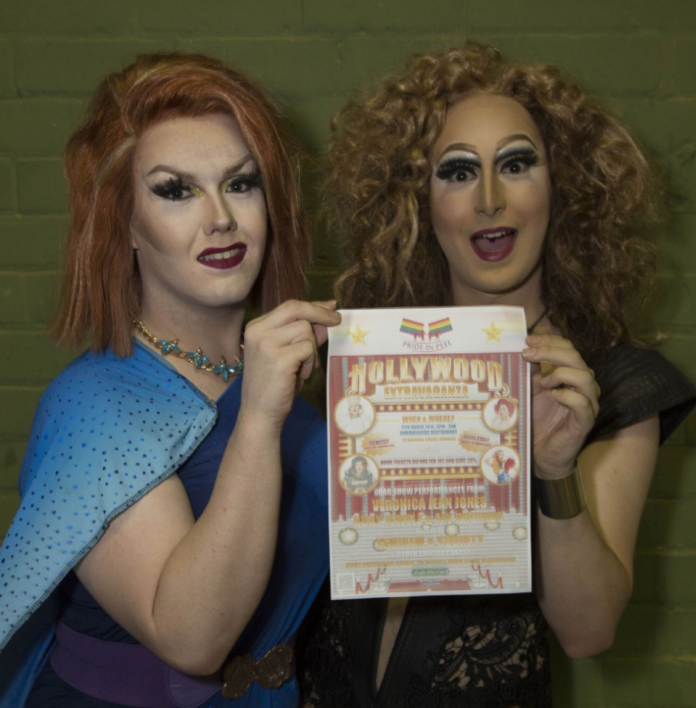 Drag performers Veronica Jean Jones and Fay Rocious.