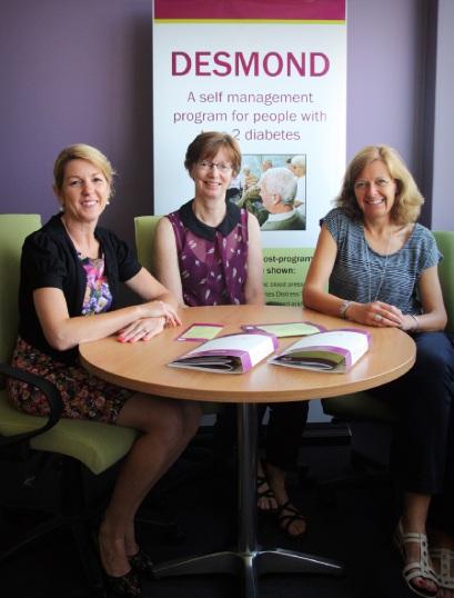Diabetes educators Di Ledger, Sue Stockdale and Kylie |Mahony.