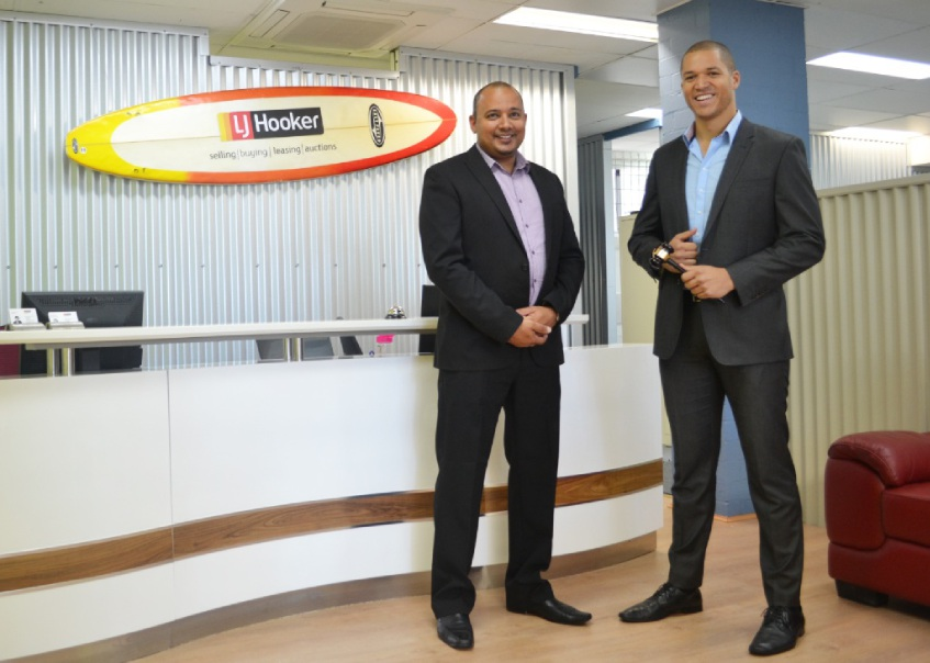 LJ Hooker North Beach sales manager Paul Leach welcomes former |reality show participant Blake Garvey to the team.