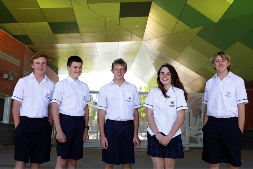 Year 11 students Connor Bryant-Evans, Cooper Membry, Tom Philips, Morgan Bloom all from Yanchep and Rheece Turner from Gingin.Picture: Martin Kennealey    d449689