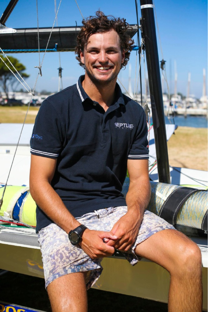 Sam Gilmour and his team Neptune Racing won a recent Regatta and received a wildcard entry into the World Match Racing Tour. Picture: Matt Jelonek        www.communitypix.com.au   d449836
