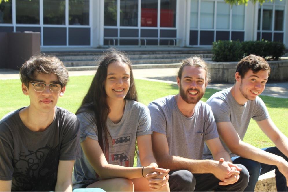 Recent Melville Senior High School graduates Max Wickham, Anatalisha Finn, Oliver Toole and Sean Hayes.