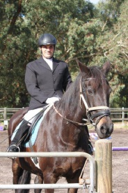 RDA member Nick Campbell riding Ellie, a thoroughbred and Friesian cross.
