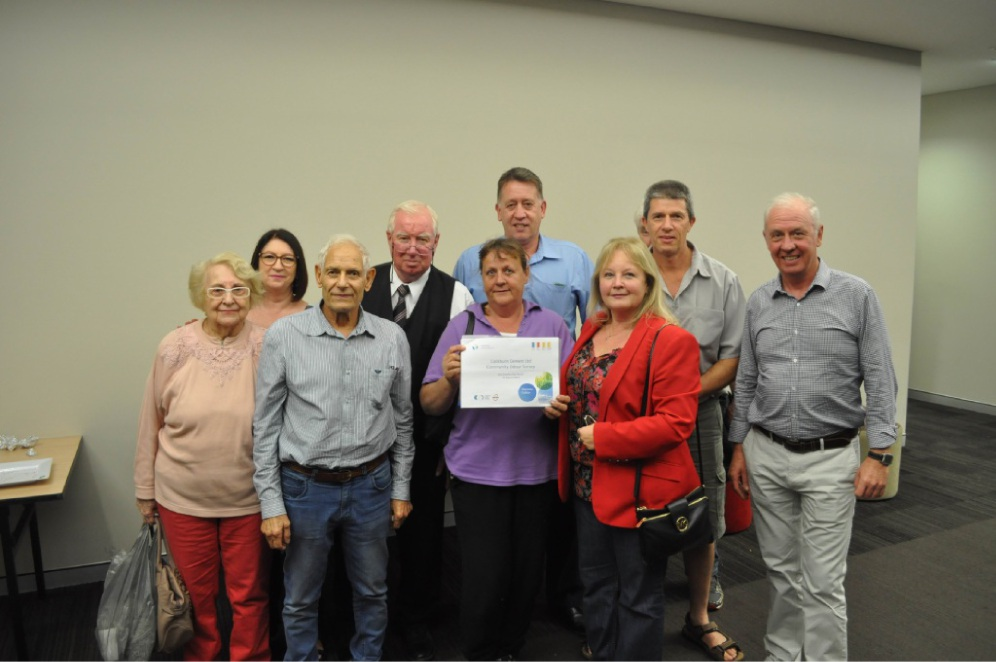 Christine Steele with the community odour survey in March 2015, the only time the community has had a chance to hold it.  Picture: Bryce Luff