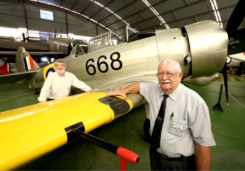 RAAF Association president David Peet and vice-president Clive Robartson. Picture: Matt Jelonek    d449705