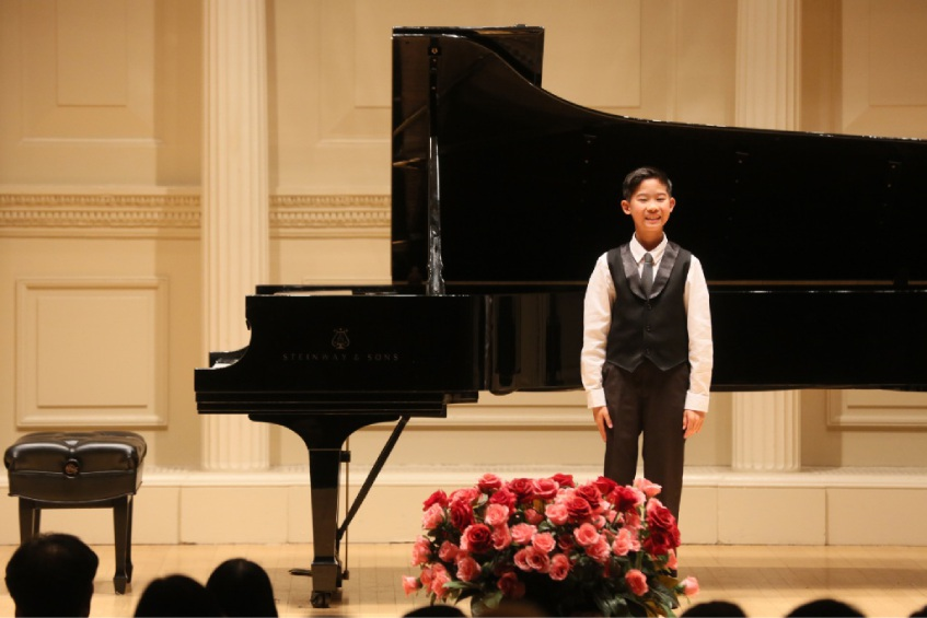 Caelan Lu of Mt Pleasant at Carnegie Hall.