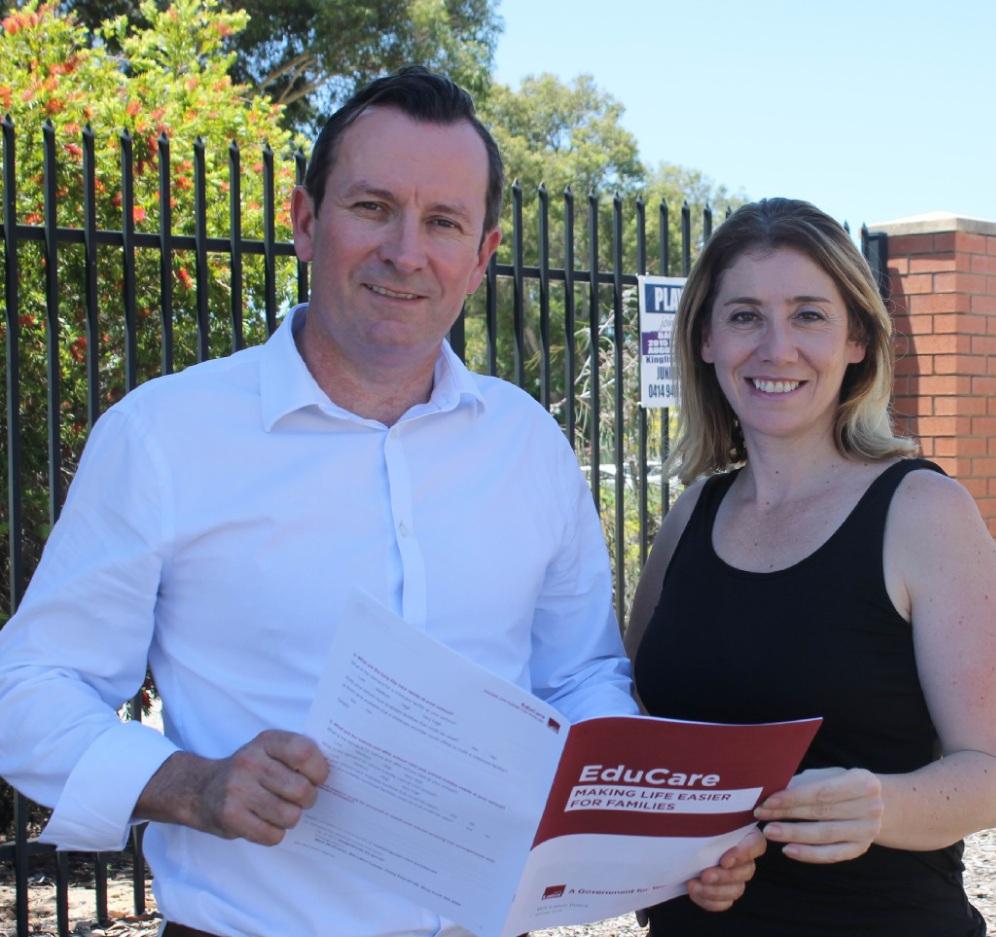 Opposition Leader Mark McGowan and transport spokeswoman Rita Saffioti.