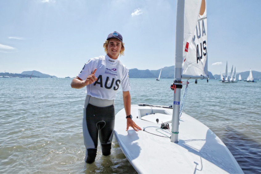 Alistair Young had success at the Youth Sailing World Championships in Malaysia.