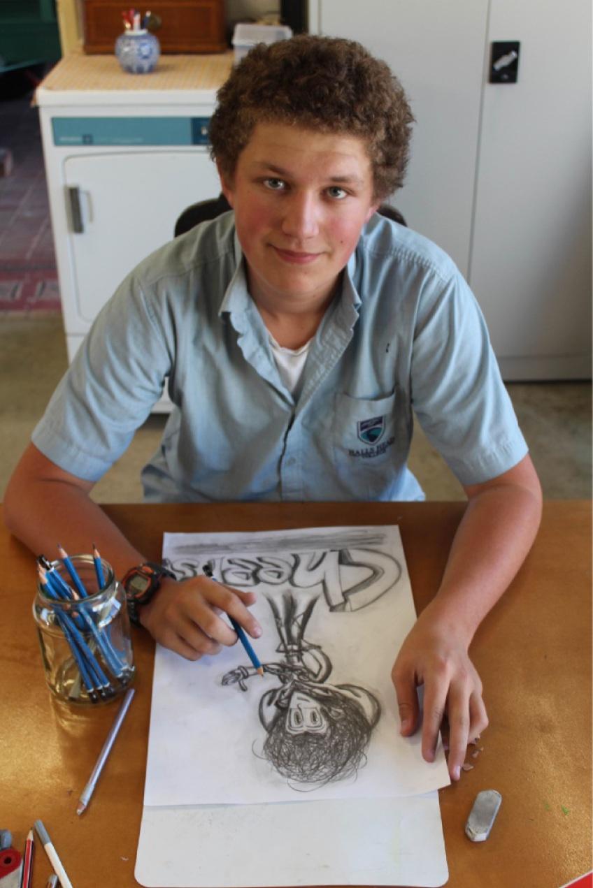 Halls Head artist Ryan Stone.