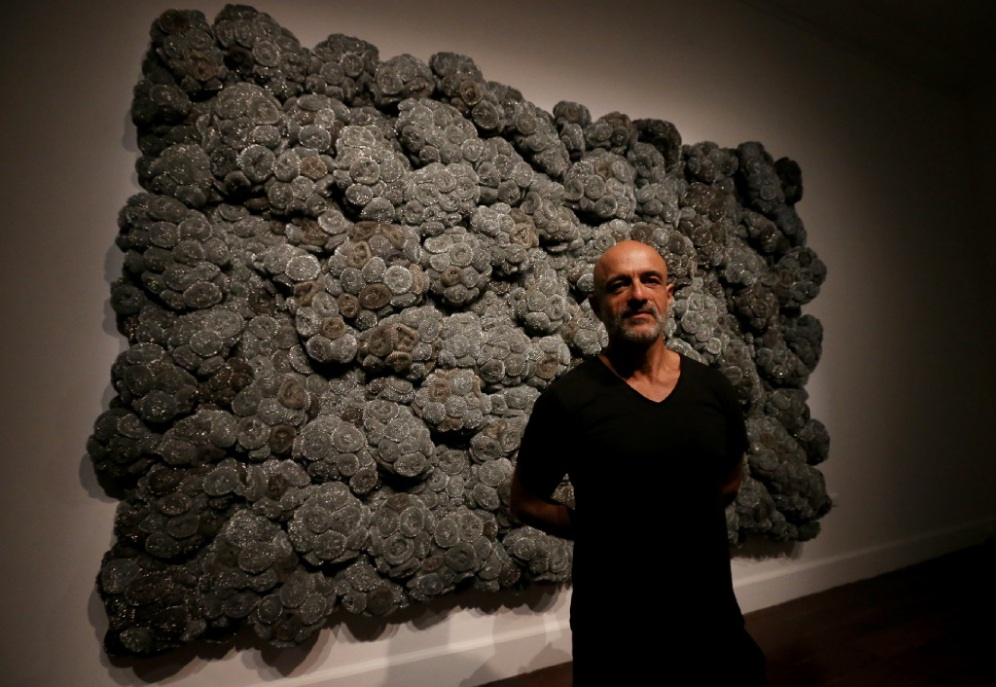 Spanish-born artist Dani Marti is exhibiting his unconventional work at Fremantle Ats Centre until March 28. Picture: Matt Jelonek        www.communitypix.com.au   d448704