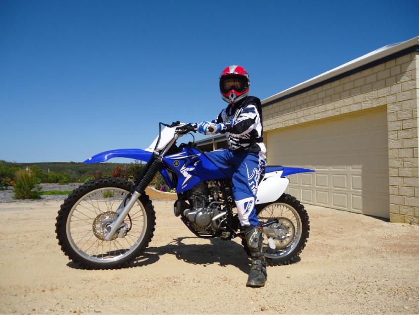 Jack Murphy on his Yamaha TT-R230 .