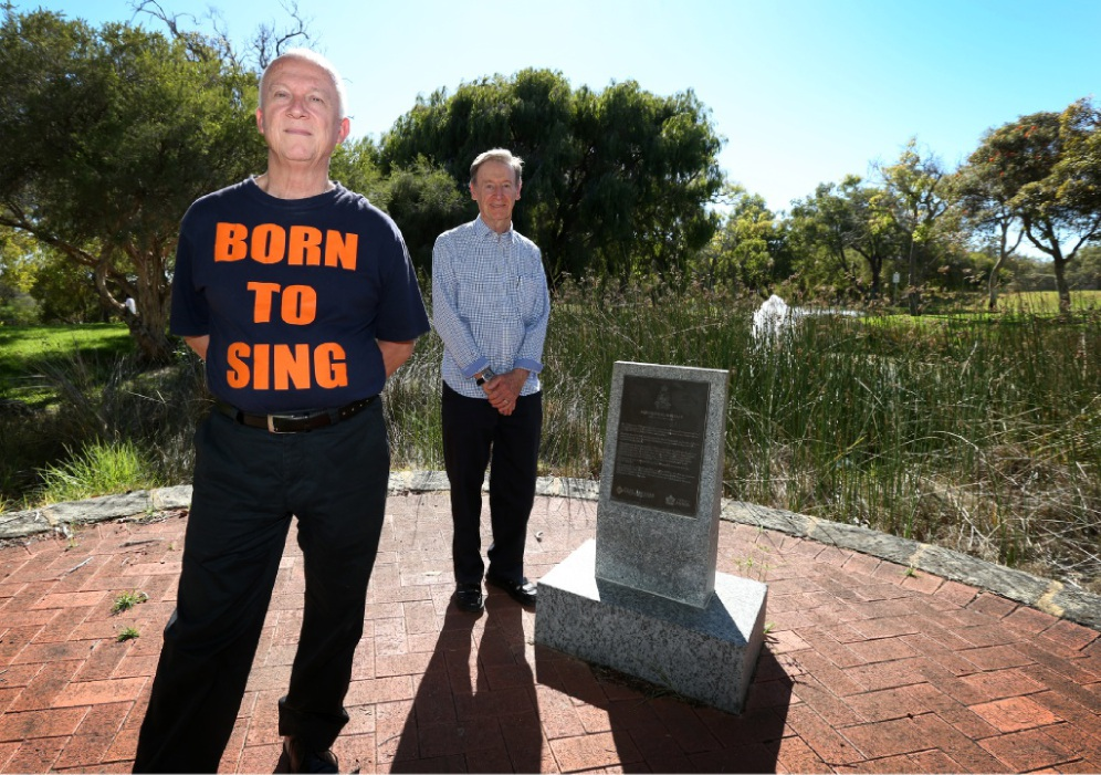 Born to Sing musical director Martin Meader helped write a Hollywood film about the Vyner Brooke tragedy while Robert Gray's grandmother was interned in the same camp as the Australian Army nurses. Picture: Matt Jelonek www.communitypix.com.au   d449383