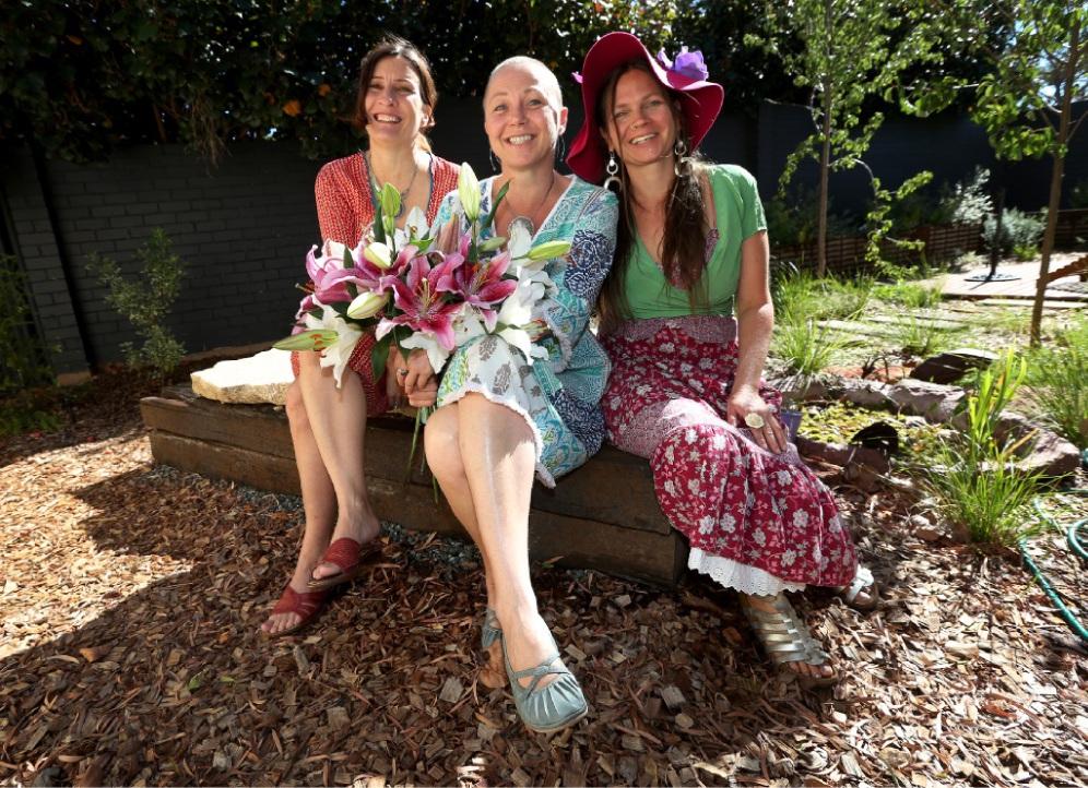 Poets Amanda Joy, Tineke Van Der Eecken and Jaya Penelope. Picture: Matt Jelonek    d449115