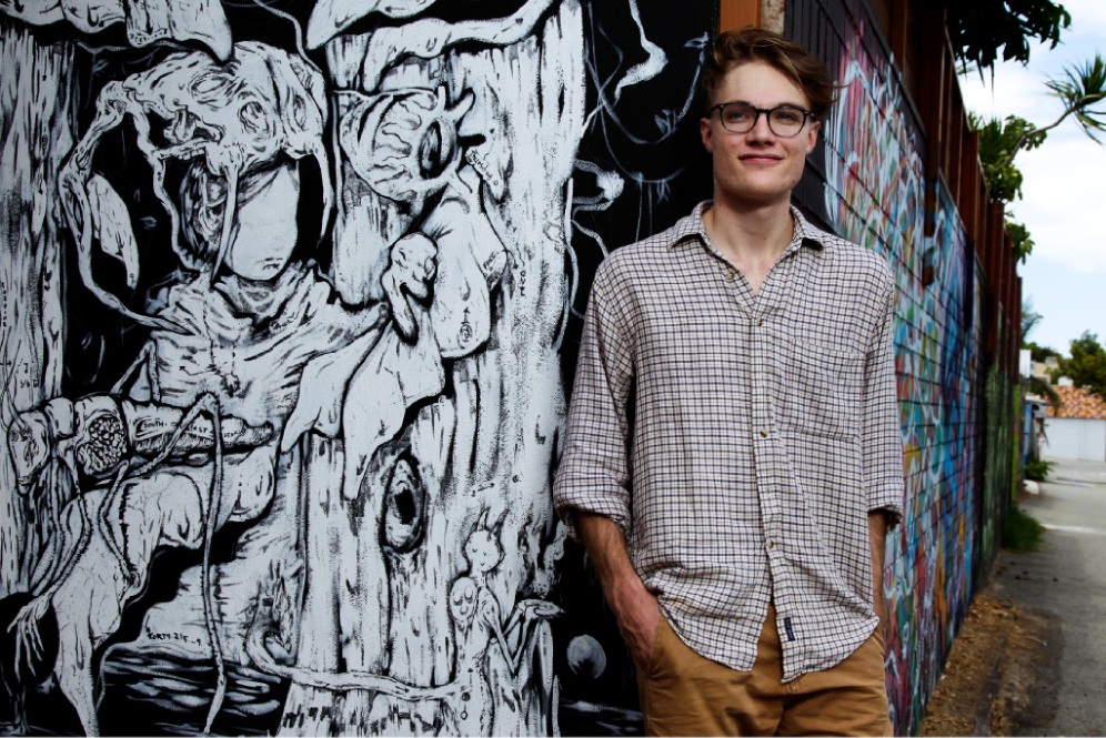 Finnian Williamson is one of six people in PIAF's Young Creatives mentoring program. Picture: Marie Nirme  www.communitypix.com.au   d449231
