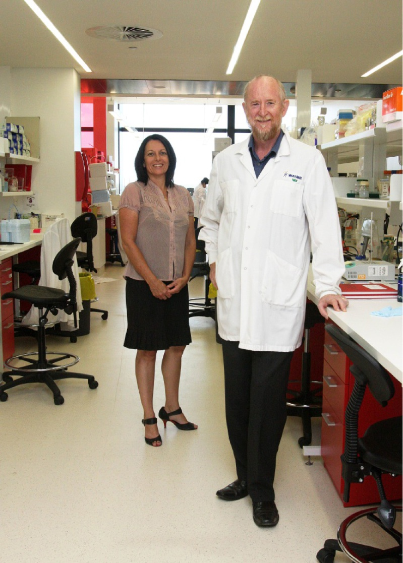 WA Centre for Diabetes Research's Grant Morahan and Diabetes Research WA's Sherl Westlund.