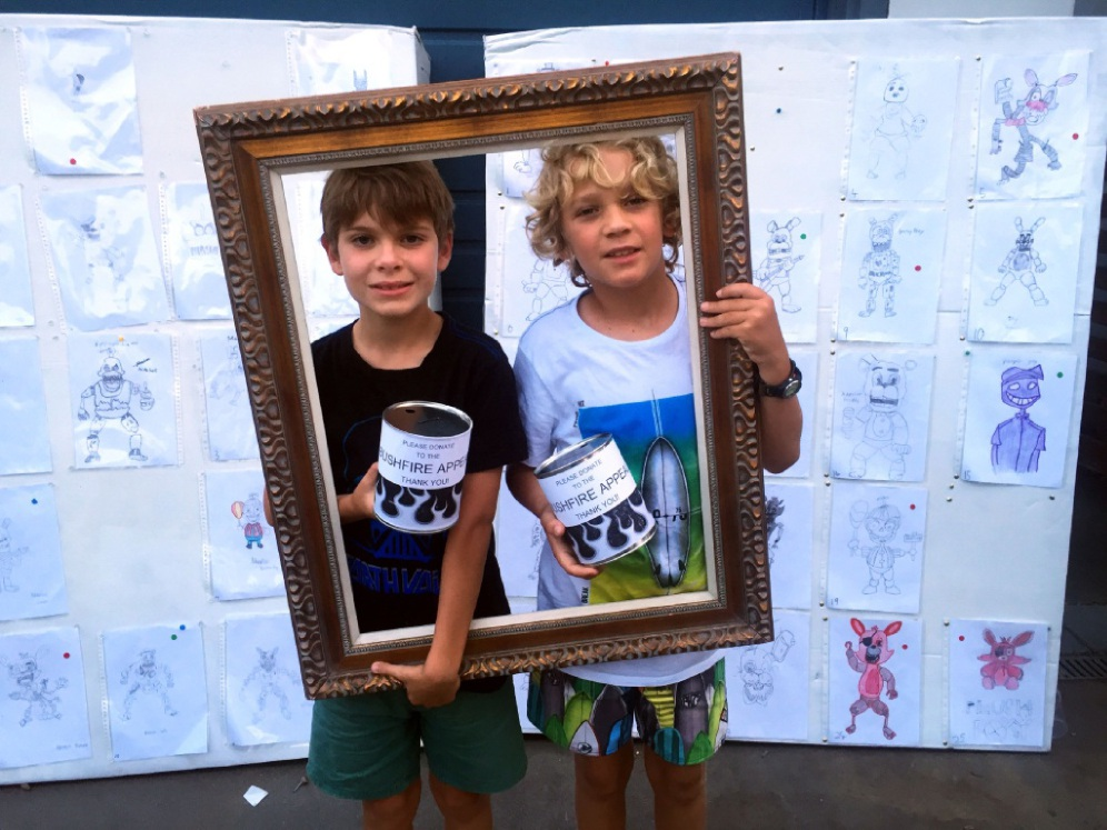 Marlon Cobby-Sim and Mitchell Sim raised money for South-West bush fire victims.