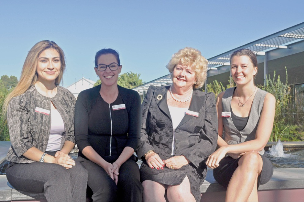 Pauline Tarrant (far right) is not standing for election this time.