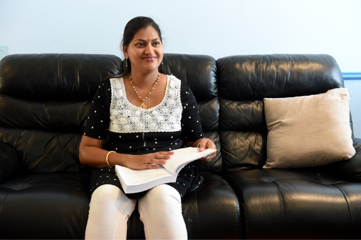Sushma Domal started a Diploma of Engineering last year. Picture: Jon Hewson        www.communitypix.com.au   d449051