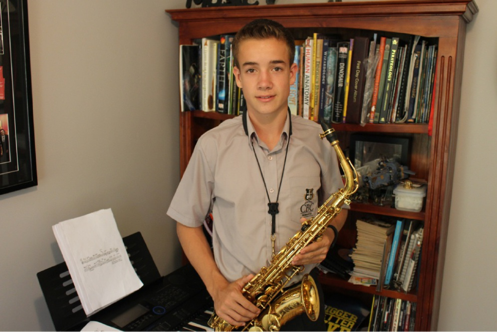 Lachlan Glover hopes to one day study jazz at the prestigious Julliard School in New York.