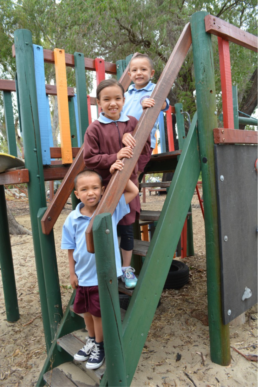 Mace, Dali and Haro started Term 1 at Bayswater Primary School last week. Picture: Toyah Shakespeare