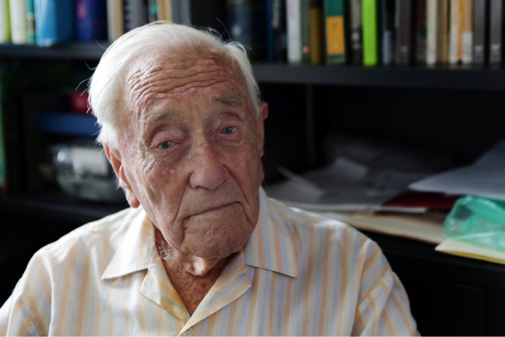 David Goodall, who turns 102 in April and who has been appointed a Member of the Order of Australia, is believed to be the country's oldest working scientist. Picture: Martin Kennealey        www.communitypix.com.au   d449218