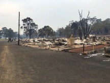 A Western Power employee has died after working in fire-ravaged Yarloop.