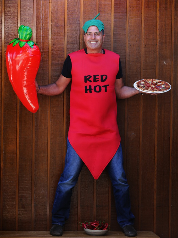 St. John Hammond dressed up as a chilli. Picture: Martin Kennealey    d449361