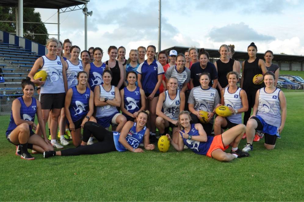 The East Fremantle Women's Football team.