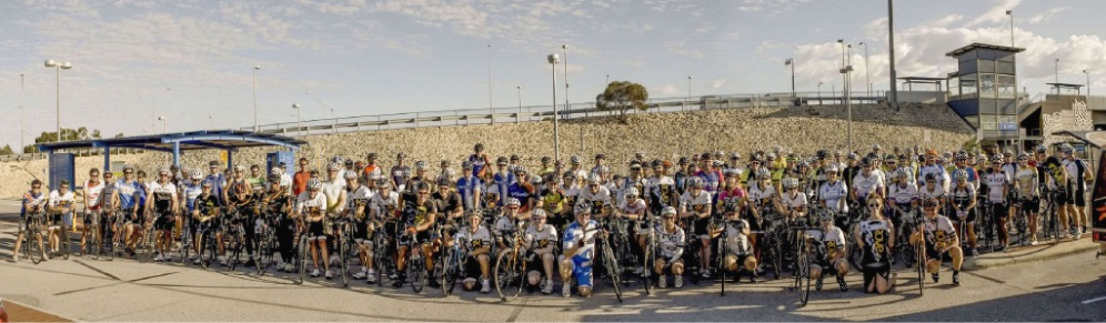 About 150 cyclists joined a fundraiser for people affected by the Yarloop bushfire. Pictures: Mary Smith Images